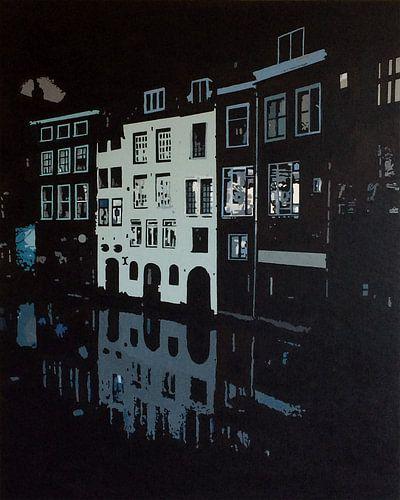 Lijnmarkt Utrecht bij nacht