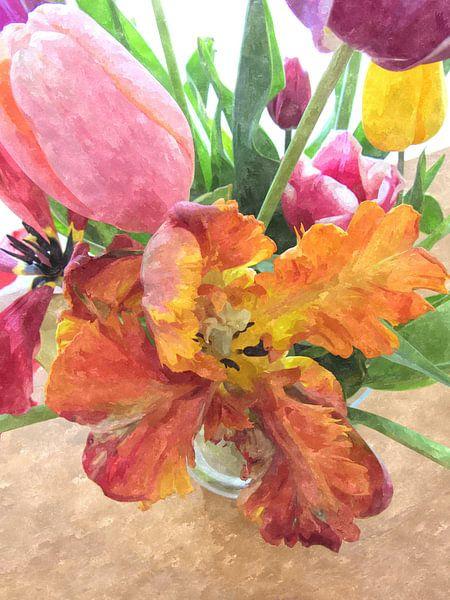 Tulips beauty van Nicky`s Prints
