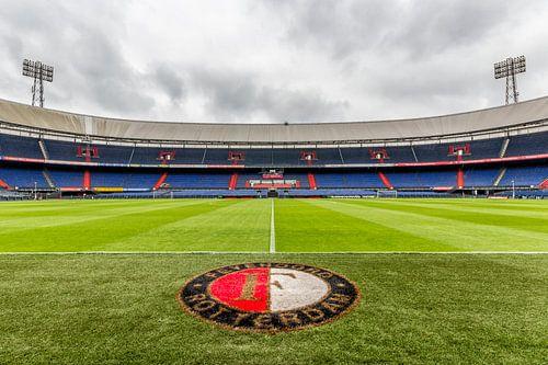 Dichtbij het gras van de Kuip | Feyenoord Rotterdam van Tux Photography