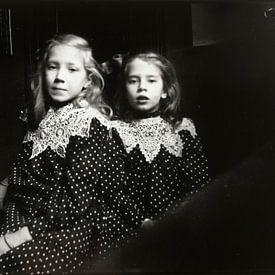 Portrait de deux jeunes filles inconnues, George Hendrik Breitner sur Meesterlijcke Meesters
