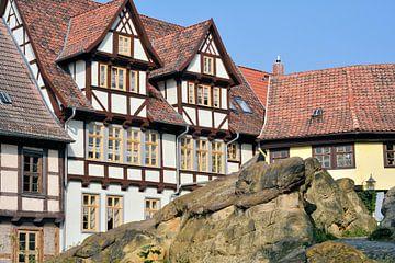 mittelalterliche Fachwerkhäuser am Schlossberg in Quedlinburg von Heiko Kueverling