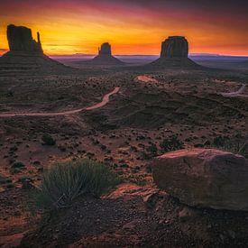 De zon ontwaakt boven het Wilde Westen van Joris Pannemans - Loris Photography