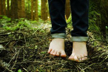 Blote voeten in het bos van Toni Stauche