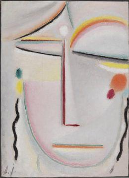 Abstract hoofd - Verlichting II,  Alexej von Jawlensky, 1919 van Atelier Liesjes