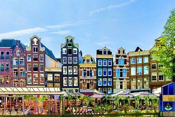 Bloemenmarkt Amsterdam van Peter Bartelings Photography