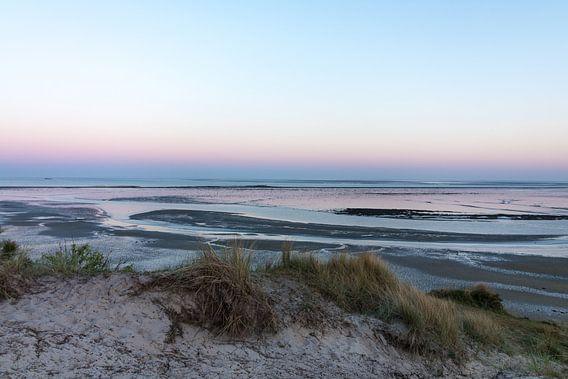 Zonsondergang, Terschelling aan de Waddenzee van Marianne Twijnstra-Gerrits