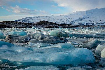 Paysage en Islande, Jökulsárlón et Diamond Beach sur Gert Hilbink
