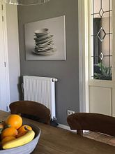 Klantfoto: servies van Hanna Vlietstra, op canvas