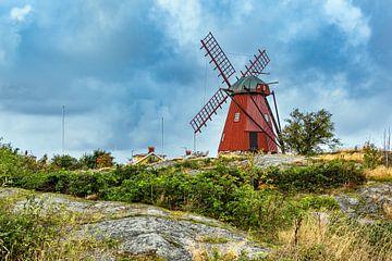 Windmühle in Mollösund in Schweden von Rico Ködder
