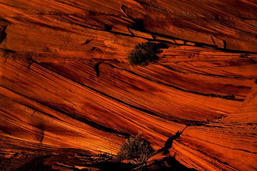 Orange Rock Layers van Cornelis (Cees) Cornelissen