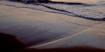 Zonsondergang in het zand van Willem van den Berge