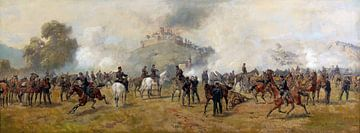 Beschießung der Festung Lichtenberg durch württembergische Artillerie - 1890, louis-braun von Atelier Liesjes