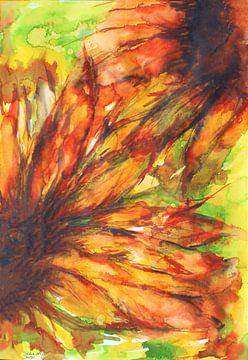 Braune Sonnenblumen von Ineke de Rijk