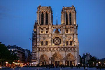 Paris Notre-Dame dans la nuit sur Eric van Nieuwland