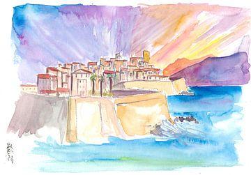 Stadtbild von Antibes an der Französischen Riviera im Sonnenuntergang von Markus Bleichner
