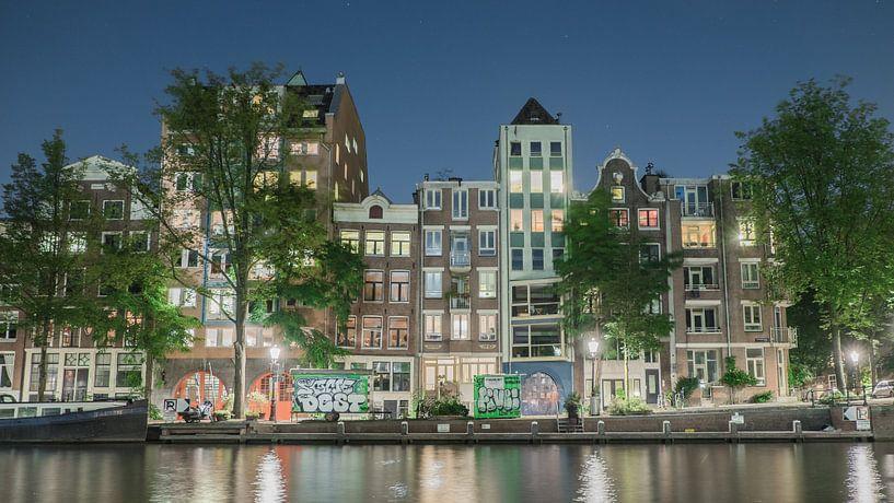 Amsterdam in de nacht 2.0 van Stijn van Hulten