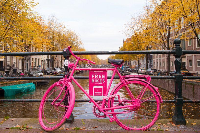 Fiets in Amsterdam van Brian Morgan