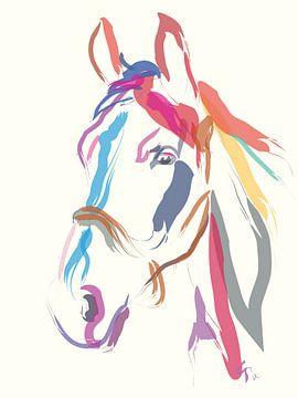 Pferd Farbe mich schön in Ecru von Go van Kampen