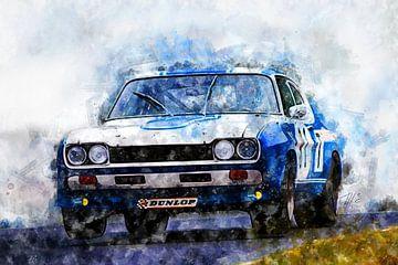 Ford Capri 2600RS, Hans-Joachim vastgelopen. van Theodor Decker