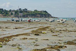 Drooggevallen inham in Bretagne