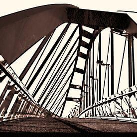 Die Leidener Schrägbrücke von Ernst van Voorst