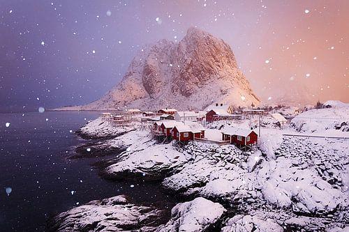 winter in Hamnoy van