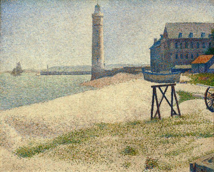 De vuurtoren in Honfleur, Seurat van Liszt Collection