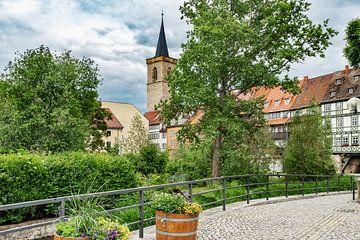 Krämerbrücke und Ägidienkirche in Erfurt von Gunter Kirsch