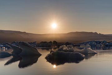 Jökulsárlón gletsjer lagune van Steve Van Hoyweghen