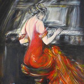 Playing the piano von Sasha Butter-van Grootveld