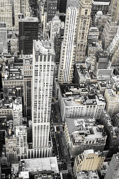 Skyscrapers in New York van Patrycja Polechonska