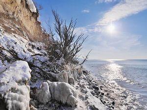 Gefrorener Strand – Steilküste Hohes Ufer, Ahrenshoop, Darß