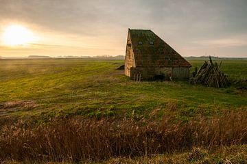 Zonsopkomst Schapenboet nabij Den Hoorn Texel