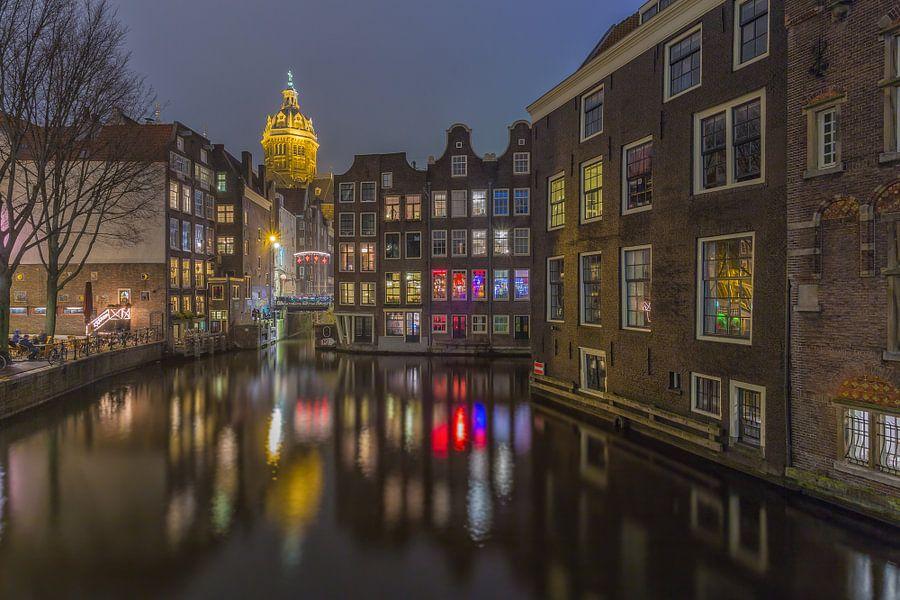 Oudezijds Voorburgwal en Zeedijk in Amsterdam - 3 van Tux Photography