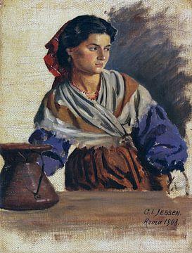 Junge Römerin, CARL LUDWIG JESSEN, 1868 von Atelier Liesjes