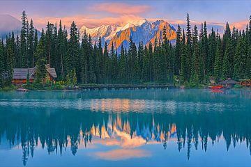 Zonsopkomst bij Emerald Lake