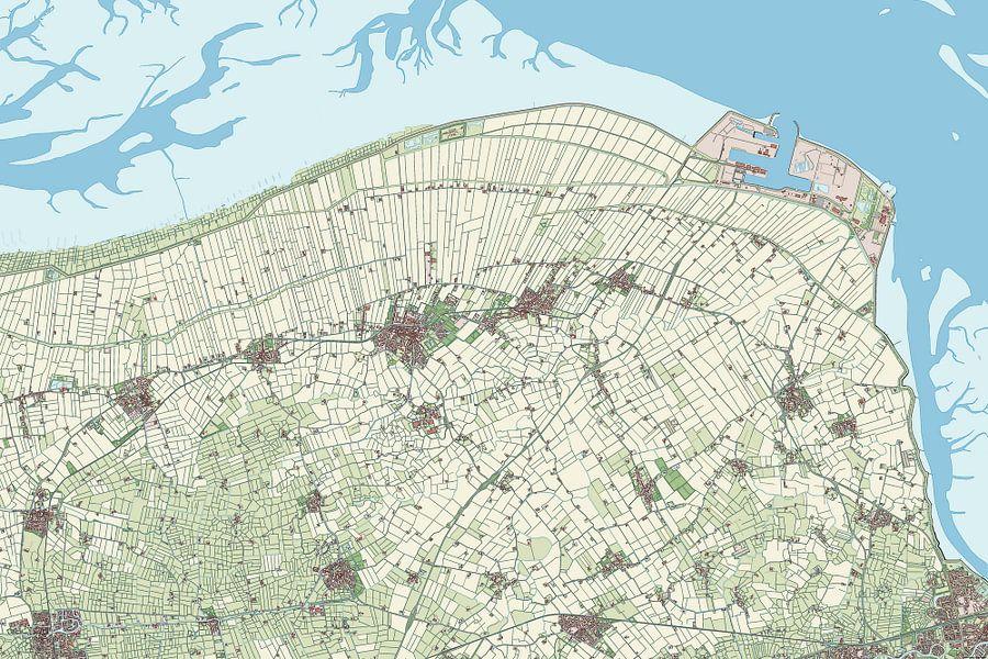 Kaart van Eemsmond