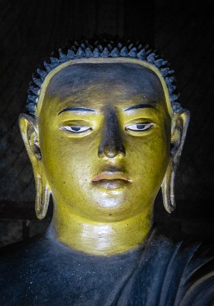 Buddha statue inside Maha Raja Viharaya or the Temple of the Great King (Cave No.2) van Inez Wijker