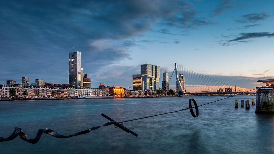 Skyline Rotterdam 2015 - Zonsondergang van Mark De Rooij