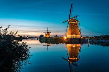 Mühlen nach Sonnenuntergang von Henri van Avezaath