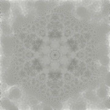 Abstraktes Schneeflocken-Mandala von Maurice Dawson