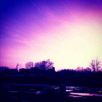 Mooie roze lucht  van Mark Winters