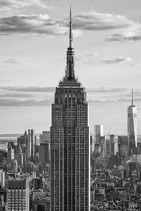 Empire State Building in zwart wit  van