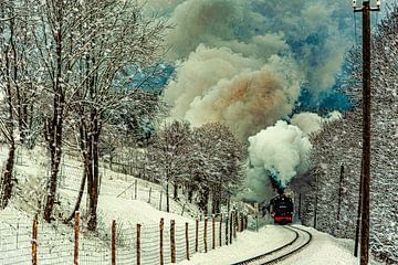 Fichtelbergbahn dans l'Erzgebirge sur Johnny Flash