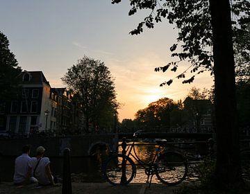 Zomeravond in Amsterdam von Odette Kleeblatt