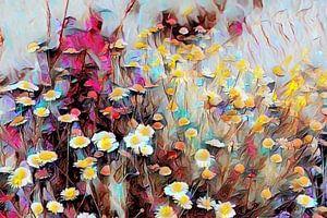 Wildblumen Ölmalerei