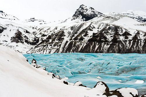 Svinafellsjokull in een sprookjesachtig winterkleed van