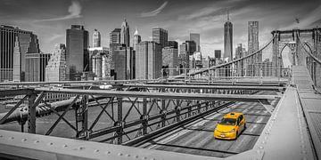 Impression urbaine du pont de Brooklyn | Panorama sur Melanie Viola