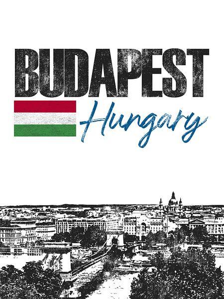 Boedapest Hongarije van Printed Artings
