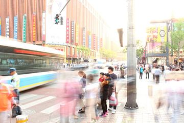 Straat in Beijing, China van Ingrid Meuleman